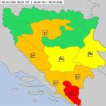 Crveni meteoalarm za Trebinje zbog jake kiše, vjetra i grmljavine