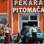 Autom se zabio u pekaru