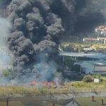 "Mostar: Veliki požar u krugu preduzeća ""Autoprevoz - Bus"""