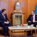 ODLIKOVANJE LAVROVU Ruskom ministru inostranih poslova Dodik uručuje Orden Republike Srpske na ogrlici