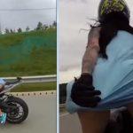 Ona juri na motoru, bez grudnjaka i donjeg rublja i ostavlja sve bez daha (VIDEO)