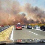 Haos zbog požara na autopoutu kod Benkovca (VIDEO)