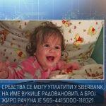 Fond solidarnosti i Fond zdravstva Srpske snose troškove liječenja male Sofije
