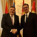 Dodik danas u posjeti Vučiću