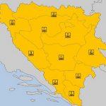 U BiH sutra se živa spušta do minus 20, izdato narandžasto upozorenje
