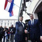 Plenković dočekao Vučića ispred sjedišta hrvatske Vlade