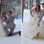 Najtoplije svadbene slike u najhladnijim danima (FOTO)