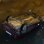 Automobil završio u rijeci Kočevi