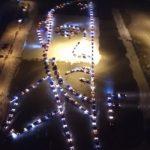 Putinov portret od 300 automobila: Spektakularni prizor u čast predsednika Rusije (VIDEO)