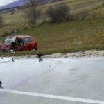 Frontalni sudar kamiona i Škode, jedna osoba poginula