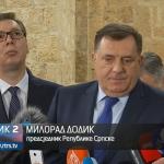 Dodik i Vučić sa predstavnicima srpskih udruženja u Mostaru