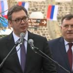 VUČIĆ I DODIK U TREBINjU - Veliki dan za Srpsku (VIDEO)