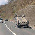 Automobil u Crkvinama kod Goražda završio na krovu
