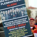 "U Splitu ""Za dom spremni"" i ""nepismeni transparenti"" (FOTO)"