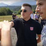 USTAŠKA BRUKA U BLAJBURGU! Mladi ustaša u crnom je prišao novinaru, a onda je doživeo ŽESTOKO PONIŽENJE! (VIDEO)