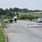 Sudar na putu Banjaluka - Prijedor, vozač ispao iz auta (FOTO)