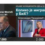Mektić: U BiH više od sedam hiljada migranata; Pandurević: Manje od dvije hiljade
