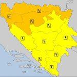 Izdat narandžasti meteoalarm za sjeverna područja Bosne i Krajinu