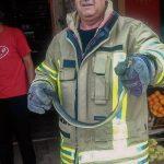 Vatrogasci iz marketa, ispod rafe s robom, izvukli zmiju dugu oko metar (FOTO)