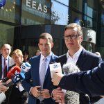 SASTANAK U BRISELU Vučić: Tražićemo zajednički imenitelj za kompromis; Tači: Najteži sastanak u posljednjih 6 godina
