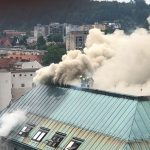 Požar u hotelu u centru Ljubljane, gasi ga 75 vatrogasaca