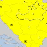 Žuti meteoalarm zbog kiše i grmljavine