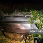 Nezgoda kod Banjaluke: Vatrogasci izvukli vozača iz prevrnutnog auta