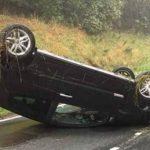 Na putu Foča - Sarajevo automobil se prevrnuo na krov, povrijeđen 40-godišnjak