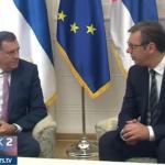 """SASTANAK VUČIĆA I DODIKA: Srbija neće dozvoliti nove """"oluje"""" (FOTO i VIDEO))"""
