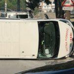 Prevrnulo se vozilo Hitne pomoći