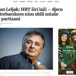 Leljak: Srbi sami ratovali na Kozari, ustaše spasavale djecu!?
