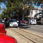 FILMSKO HAPŠENJE NA DORĆOLU Vidio je policiju i počeo da bježi, a onda je oboren automobilom