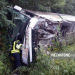 Teška saobraćajka kod Banjaluke: Autobus se prevrnuo, jedno lice poginulo