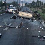 Automobil se prevrnuo tokom vožnje, povrijeđen mlađi muškarac
