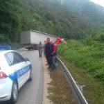 OTEŽAN SAOBRAĆAJ Udes u kanjonu Tijesno, povrijeđen vozač kamiona