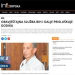 OBA i dalje prisluškuje predsjednika Srpske - cilj diskreditacija Dodika pred izbore (VIDEO)