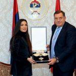 Dodik odlikovao Ivanu Španović (VIDEO)