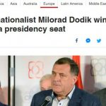 Zapadni mediji: Pobjedu proglasio proruski orijentisani Milorad Dodika