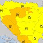Izdat narandžasti meteoalarm zbog nevremena u BiH
