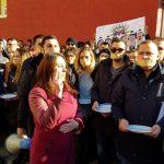 SRBIMA PRETI SMRT ILI EGZODUS Jezive scene na ulicama Kosovske Mitrovice: Studenti nosili trake preko usta, a u rukama prazne tanjire! Poslali brutalnu poruku Evropi! (FOTO)