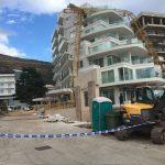 Јak vjetar oborio kran na gradilištu hotela u Petrovcu