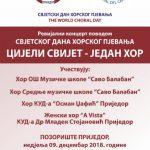 Obilježavanje Svjetskog dana horskog pjevanja u Prijedoru