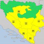 IZDAT ŽUTI METEOALARM Jaki udari vjetra očekuju se u ovim dijelovima BiH