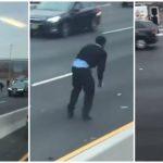 """""""IZLAZILI IZ VOZILA"""" Iz blindiranog kamiona je ispao NOVAC i nastao je haos na autoputu (VIDEO)"""