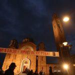 BADNJE VEČE U BANJALUCI Večernja služba u Hramu Hrista Spasitelja, Dodik stigao sa unukom (FOTO)