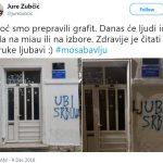 """Zadranin popravio idiotski grafit """"Ubi Srbina"""" pa dobio prijavu"""