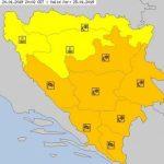 Narandžasto upozorenje u BiH: Očekuju nas nove snježne padavine i olujni vjetrovi