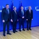 Članovi Predsjedništva BiH sa Hanom i Tuskom (VIDEO)