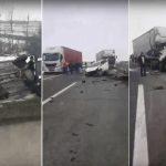 Teška nesreća kod Sremske Mitrovice, šleper se zakucao u kamion! IMA POVREĐENIH (VIDEO)
