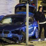 Pogledajte fotografije s mjesta nesreće u kojoj je lakše povrijeđen fudbaler Hajduka: u njegov BMW zabila se Mazda